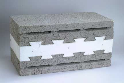 Thermal insulated sandwich block Cement foam blocks